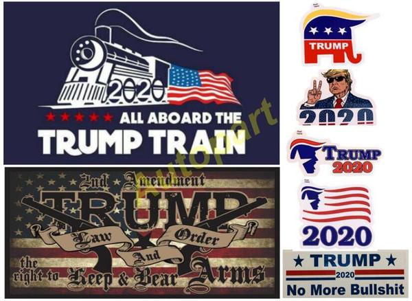 top popular best seller Donald Trump 2020 Car Stickers Bumper Sticker trump locomotive stickers Train window Sticker America flag sticker trump gun 2020