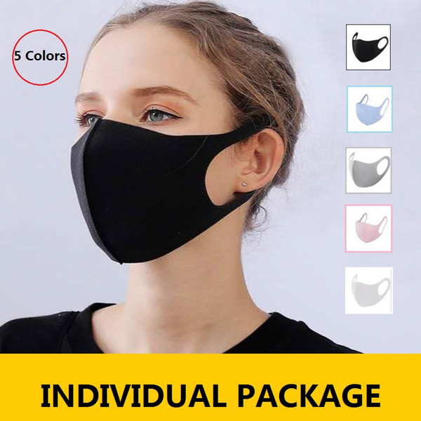top popular In Stock! Ice Silk Mask Anti-Dust Face Mouth Cover PM2.5 Mask washable Breathable Face Mask 2020