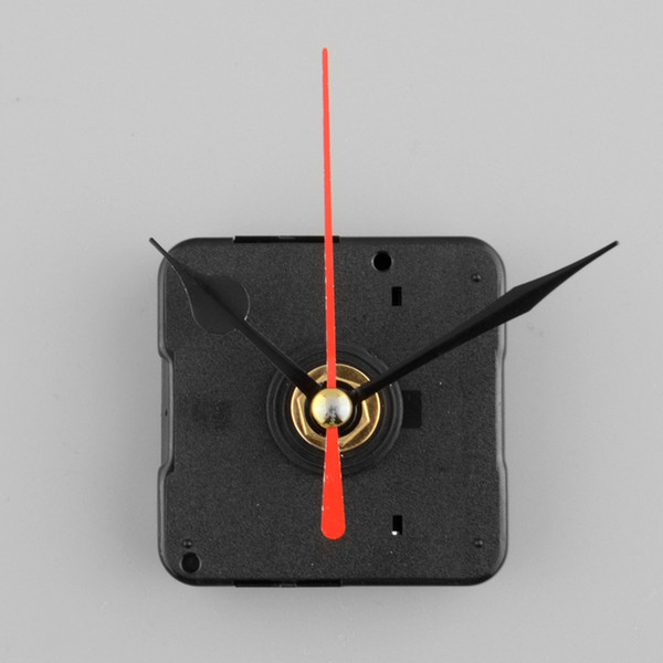 Mecanismo de movimento de quartzo de relógio silencioso vermelho e conjunto de ferramentas de reparo de parte de mão preta