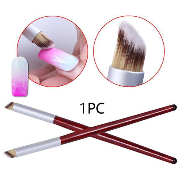 Prático Manicure Ferramenta Portátil Pintura Caneta Casa de Viagem Fácil Limpa Arborizado Escova Em Forma de Gradiente Bevel Decorado Nail Art