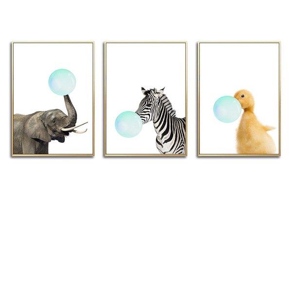 13x18cm No Frame 3 piezas Set