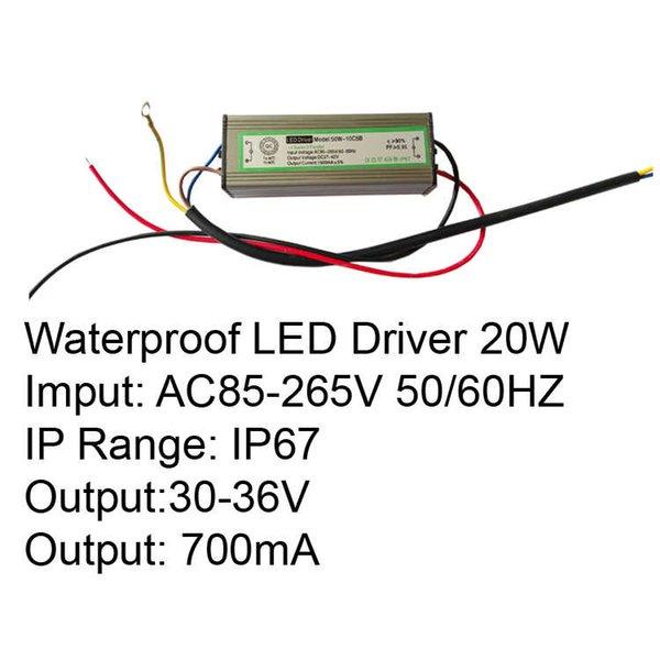 سائق 20W IP67 LED