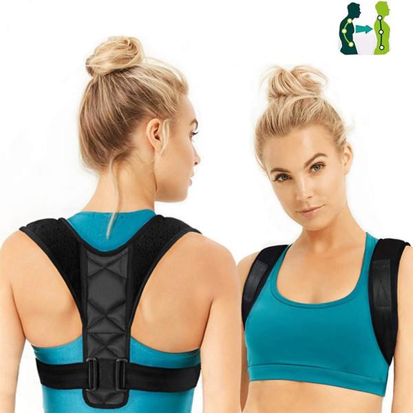 Corrector de Postura de Volta Ajustável Clavícula Coluna Voltar Ombro Lombar Brace Belt Suporte Correção Postura Impede Slouching # 713454