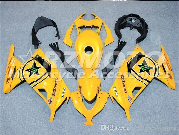 3 Free gifts New Injection ABS Motorcycle Fairing kit For KAWASAKI Ninja300 EX300 2013 2014 2015 Fairings Bodywork set black Yellow h5