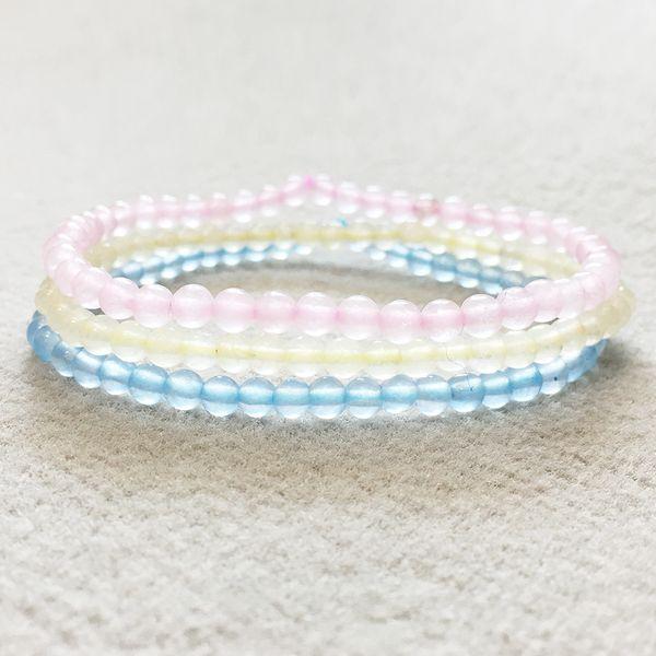 Wholesale Natural Celestine Bracelet For Women New Design Rose Crystals Mala Beads Bracelet 4 mm Mini Gem Stone Set
