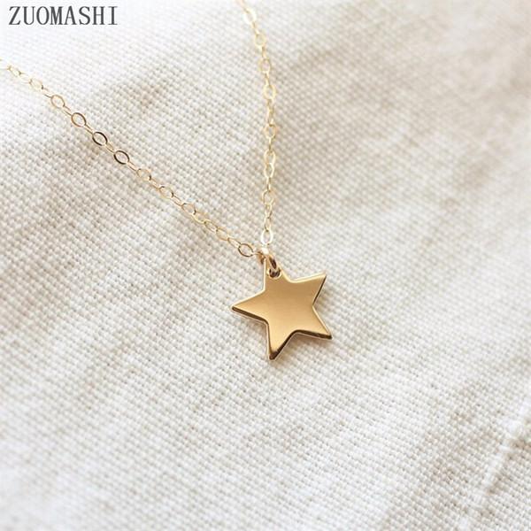 Stern Halskette zierliche Sterne Charm Halskette Boho Anhänger Collares Femme kleine Baby Taufe kleines Geschenk böhmischen Halsreif