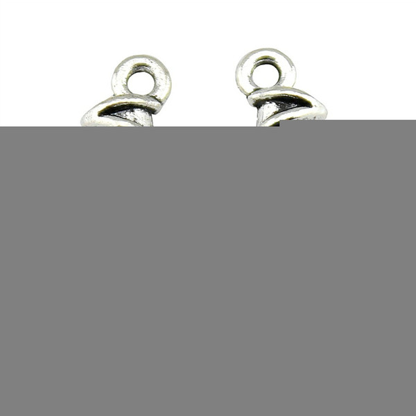 100pcs Danse Ballet Charms pendentif pour la fabrication de bijoux charme Ballet Antique Bronze Antique Argent Ballet Shoe Charms 23x6x4mm