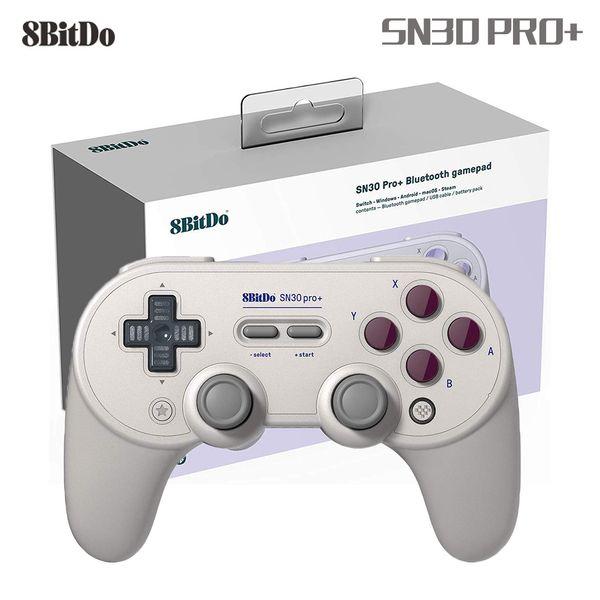 8Bitdo Sn30 Pro + Controladores de Gamepad Sem Fio Bluetooth joystick de sensibilidade para Windows Android macOS Switch Steam