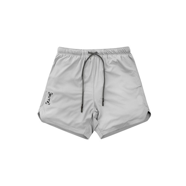 Men's Workout Running Gym Shorts 2 in 1 Athletic Shorts with Pockets and Zipper Pocket for Trainning