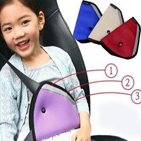 Triangle Child Baby Kids Car Safety Seat Belt Holder Air Mesh Harness Adjuster Cart Covers Belt Seatbelt Strap Clip Cover