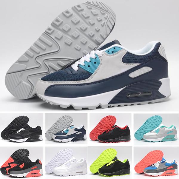 Compre Nike Air Max 90 Venta Caliente Zapatillas 90 Ez Zapatos Casuales Para Calidad Superior 90s Negro Blanco Rojo Gris Azul Verde Hombres Zapatos De