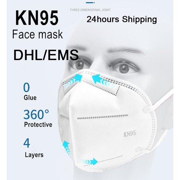 100pcs kn95/n95 face mouth mask mascherine protective mascarillas pm2.5 masque n95 disposable masks dhl ing