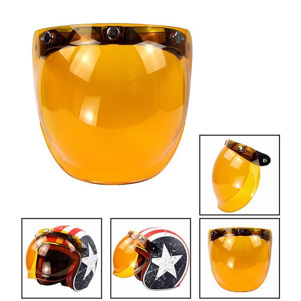 Motorrad Bubble Visier Top-Qualität offenes Gesicht Motorrad Helm Visier 9 Farbe erhältlich Vintage Helm Windschutzscheibe Schild Neu