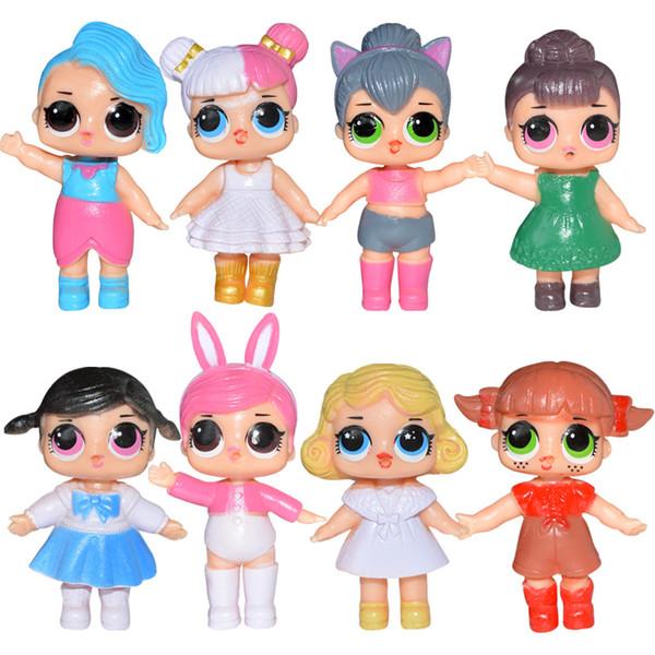 8 ensembles de sacs et 6 ensembles de sacs à vendre poupées surprise de 9cm mignonnes poupées beauté aux yeux écarquillés utilisées comme cadeaux pour les filles