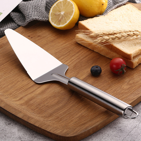 Dessert Cutlery Baking Tools Stainless Steel Cake Pizza Cheese Shovel Knife Kitchen Serrated Edge Cake Server Blade Cutter BH0612 TQQ