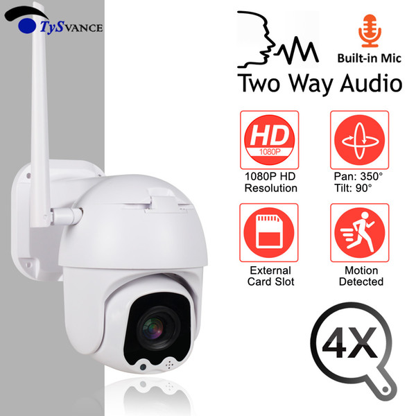 Mini IP Camera WiFi HD 2MP 1080P Wireless PTZ Speed Dome 4X Optical Zoom CCTV Onvif Camera Outdoor Audio Security Surveillance