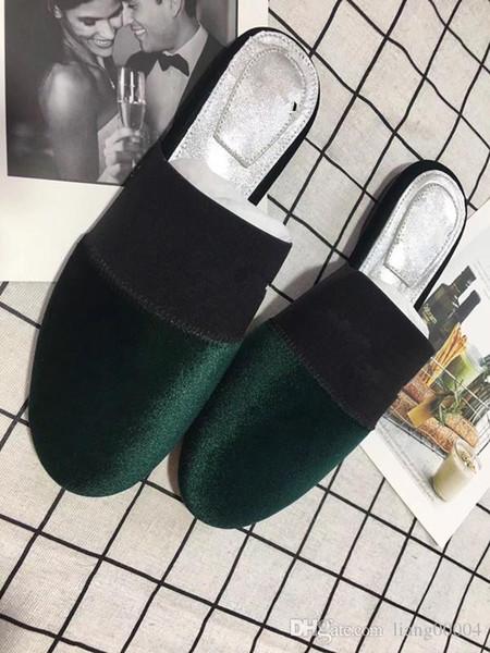 Üst deri At Kadınlar Kutusu ile Tasarımcı Sandalet lüks terlik Toz Torbası Tasarımcı Ayakkabı Lüks Slayt Yaz Geniş Düz Sandalet hs090703