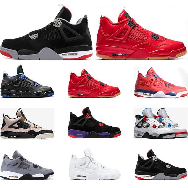 Top chaussures de basket-ball 4s Nero FIBA CE QU'EST LE Cool gris élevé SILT RED PURE MONEY WINGS 4 baskets de sport pour hommes taille 7-13