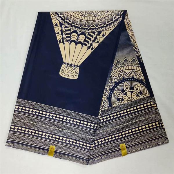 T2! 2018 Tissu Africain pour Imprimés de Cire de Java 6 Mètres Pour Robe Style Ankara 100% Coton Tissu Africain De Cire Super Java! P40715