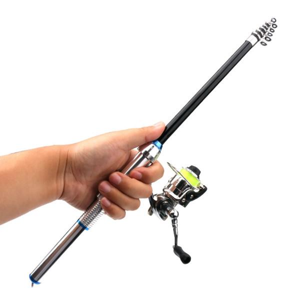 Canne à pêche détachable Kit combiné Combo Portable Pole Durable Reel Set de pêche pour l'eau de mer douce