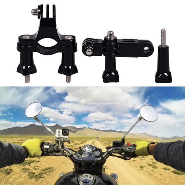 Nouveau Pour Go Pro Support Vélo Moto Guidon Roll Bar Mount Titulaire 3 Pivot Bras Pour GoPro Hero 4 3 Xiaomi Yi SJ4000 # 381367