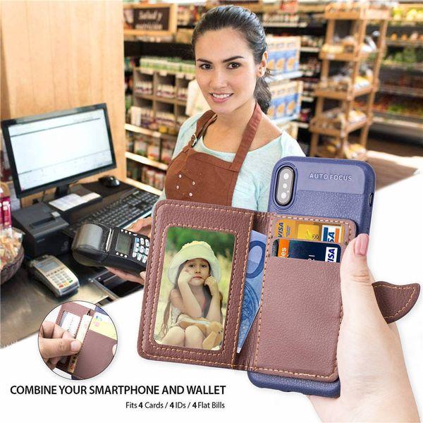 Top Qualiy Uso general para Samsung J2 Core Tpu J4 J6 A7 Hoja PU Funda de cuero Tarjeta con tapa Soporte de cartera Cubierta