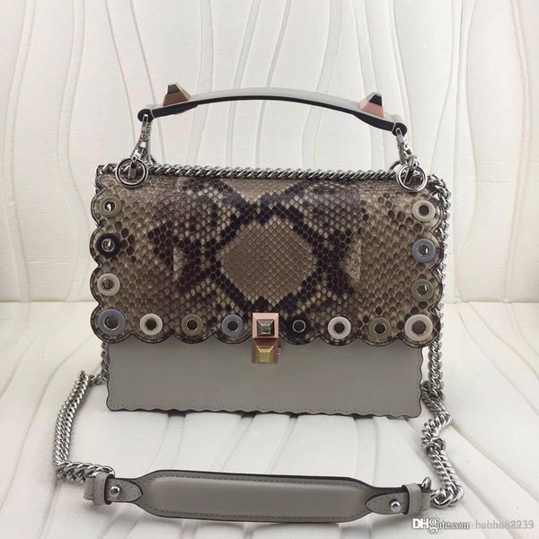 new Large top qualith Italian classic kan real leather genuine python skin tote renovate flowers women Crossbody handbags shoulder bags