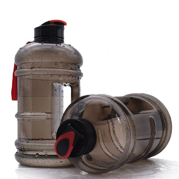 2.2L chaleiras de água de grande capacidade copo de água com pequeno cap haltere aptidão portátil para ao ar livre e ginásios 5 cores