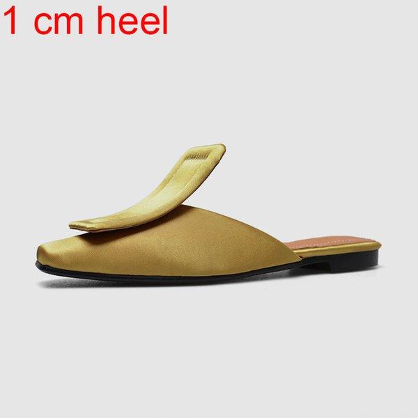 желтый каблук 1 см