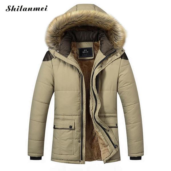 Plus Size Men Parkas With Detachable Hat Loose 4xl 5xl Winter Jacket Coat Fashion Quality Windproof Thick Warm Soft Clothing