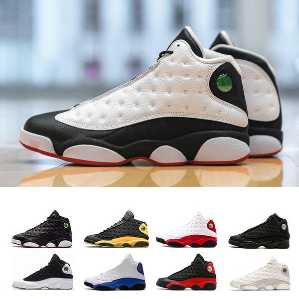 nike air jordan aj13 retro Scarpe da pallacanestro da uomo 13s Atmosphere Grey POLY DIRTY BRICICLO HYPER ROYAL GRANO DENTATO BLACK CAT OLIVE 13 sneakers sportive uomo