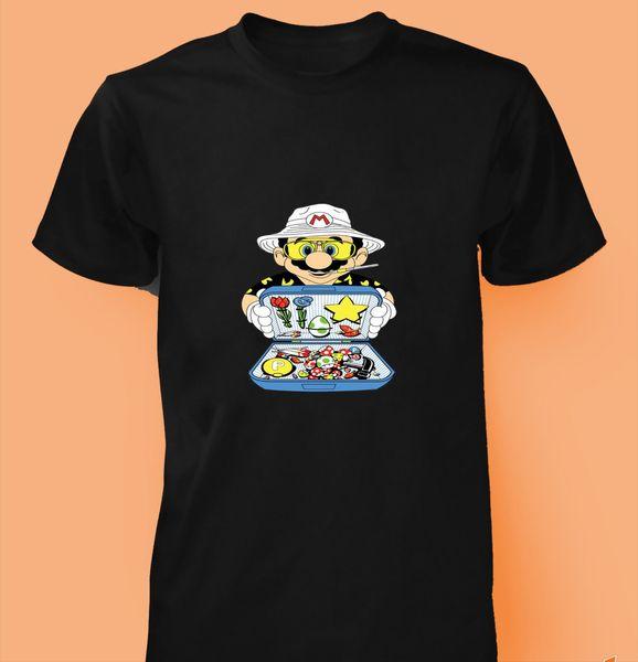 Super Mario T-shirt holiday game luigi gamer video game kids men women tee top Funny free shipping Unisex Casual Tshirt top