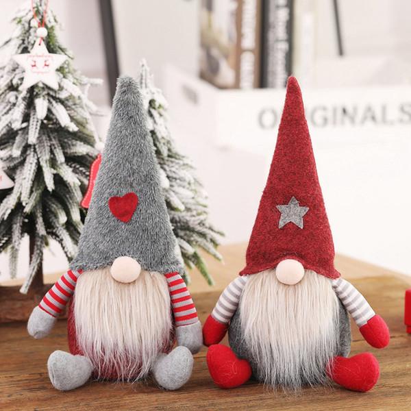best selling Santa Claus Plush Doll 19cm 28cm Cute Christmas Stuffed Toys Xmas Soft Doll Kids ToyssCartoon Table Decoration Christmas Gifts