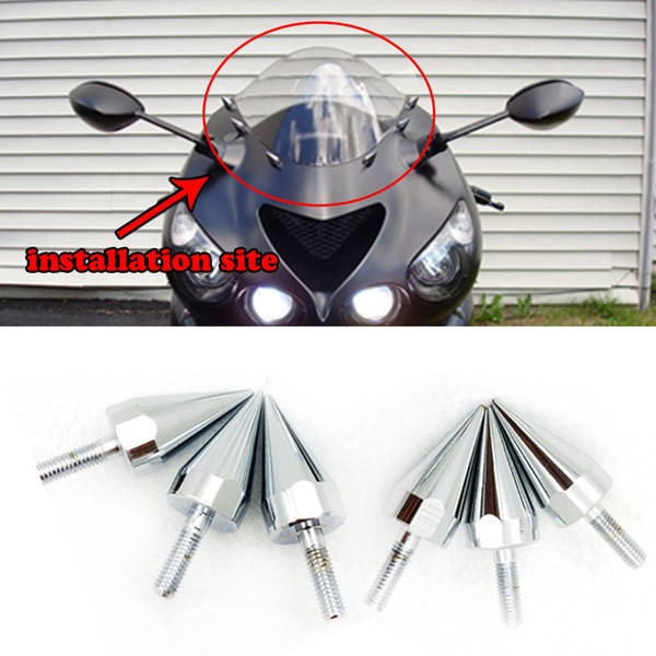 Universal Motorcycle Aluminum Spike Bolts For Windscreen Fairings License Plate Bolts For Honda Yamaha Suzuki Kawasaki Harley KTM Ducati
