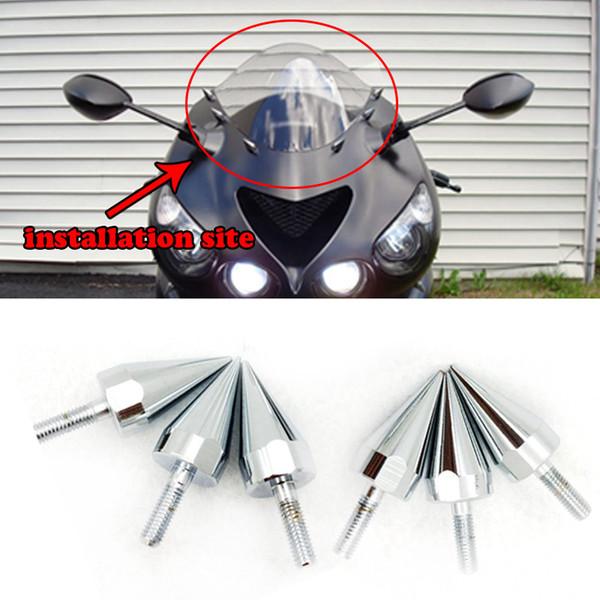 Универсальные мотоциклетные алюминиевые зубчатые болты для обтекателей ветрового стекла Болты номерного знака для Honda Yamaha Suzuki Kawasaki Harley KTM Ducati