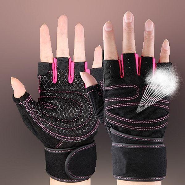 розовые спортивные перчатки