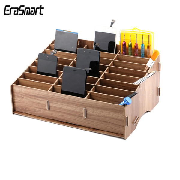 Mobile Phone Repair Tools Box Wooden Storage Box CellPhone Motherboard LCD Screen Storage Ferramentas Accessories