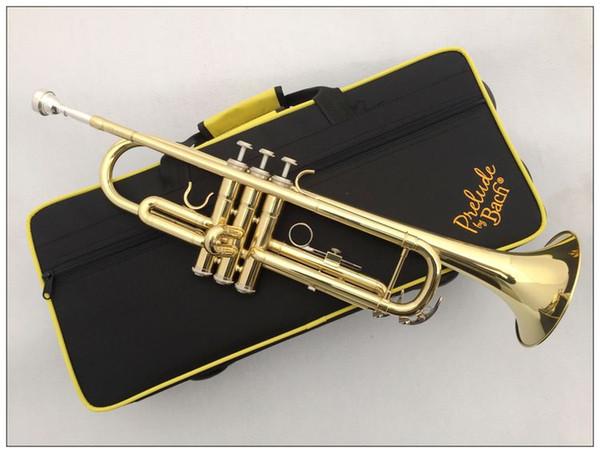 2 pzas Vincent Bach Trompeta Profesional TR-600 Gold Lacquer Instrumento Musical Trompeta TR600 Con Estuche Boquilla