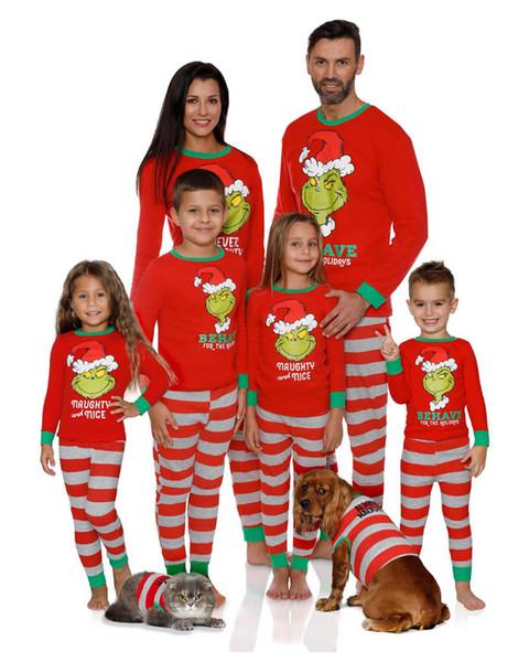 vêtements correspondant à la famille INS pyjama noël famille correspondant à maman et correspondant fille tenues de nuit pyjamas pour enfants A8305