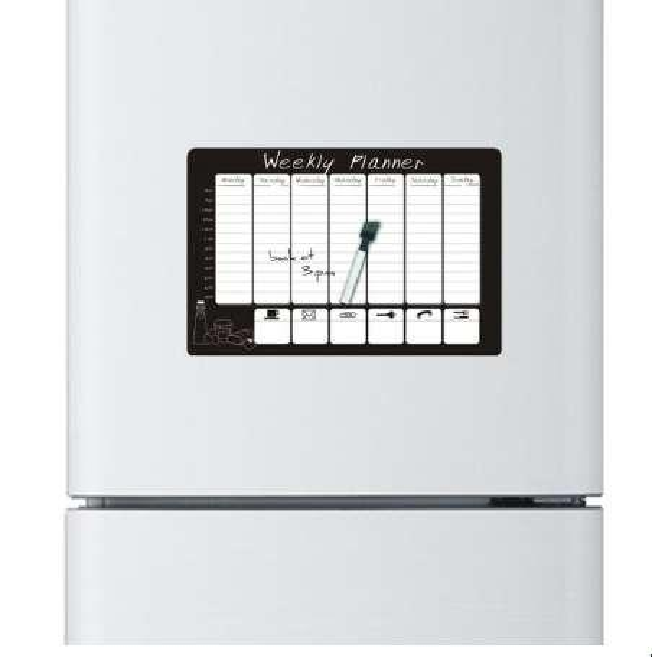 2pcs/lot weekly planner printed Custom fridge magnet message board home decor refrigerator decorative magnet sticker board
