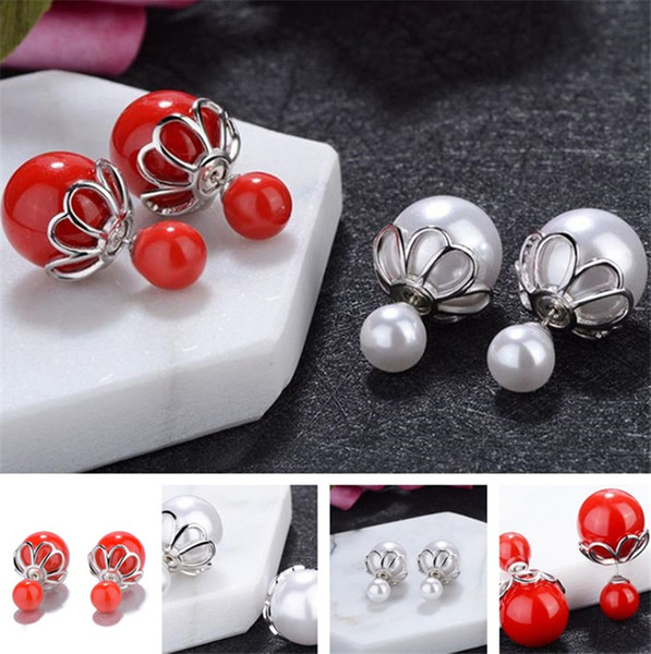 New style Fashion Ear nails diamond Ear nails Lady earrings high-end Earrings Pearl Earring copper earring T6C6026
