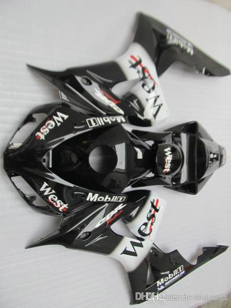 100% fitment Injection mould Fairings for Honda CBR1000RR 2006 2007 black white fairing kit CBR 1000 RR 06 07 QQ27