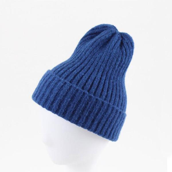 Fashion Mens Skullcap Women Hats Beanie Skull Cap Men Adult Solid Ribbed Knitted Cap Casual Short Skullies Leisure Bonnet