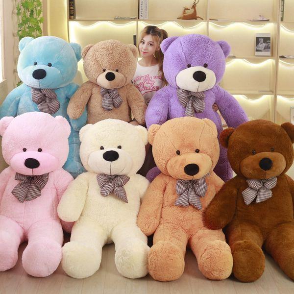[7 COLORS] Giant teddy bear plush toys soft stuffed hot big bear toys brinquedos high quality children gift toys