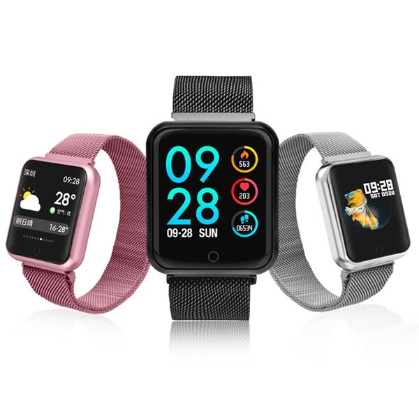 P68 smart watch Men Women 2018 Blood Pressure Blood Oxygen Heart Rate Monitor Sports Tracker Smartwatch IP68 Connect IOS Android
