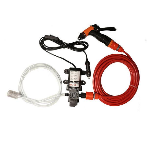 Portable 70W 130PSI High Pressure Car Electric Wash Washer Water Pump 12V Clean Set Car Washer Cigarette Lighter Water Pump Kit