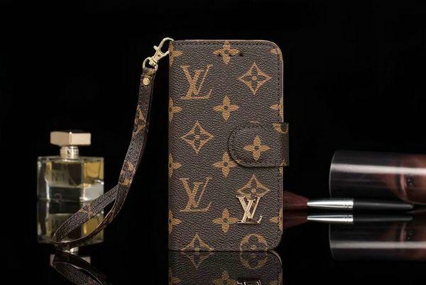 Custodia per telefono per iphone Xs max design a portafoglio custodia in pelle per cellulare con fessura per carta per iphone X XR 7plus 7 8 8plus 6 6 plus con cinturino a mano