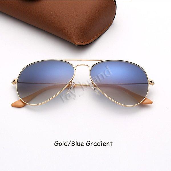 Gold-Blau-Verlauf