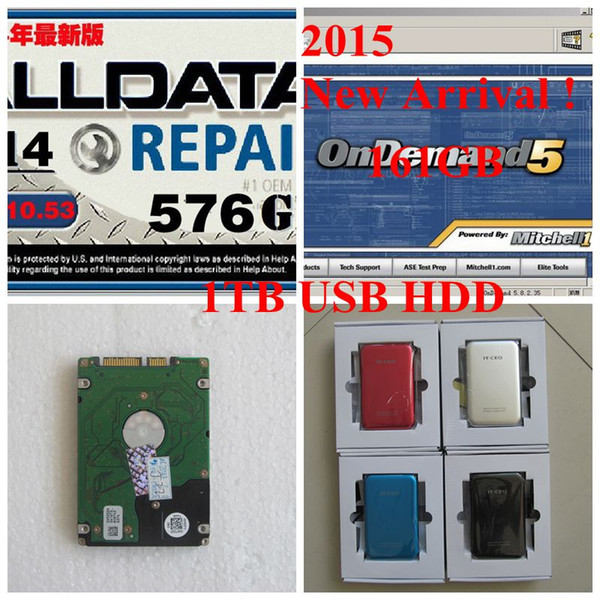 Alldata 10.53 with 1000gb new usb hard disk Alldata and mitchell on demand software Auto repair data 2015V work for wins 7/8/xp