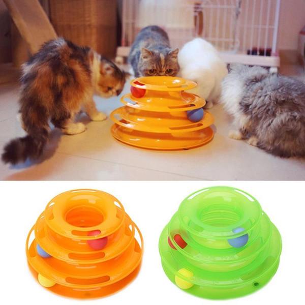 Komik Pet Kedi Çılgın Top Disk Interaktif Oyuncaklar Eğlence Plaka Trilaminar Oyuncak